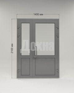Дверь алюминиевая полуторная