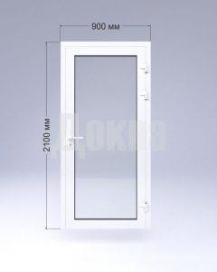 Одностворчатая алюминиевая дверь
