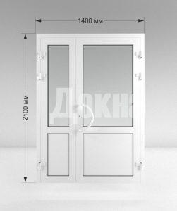 Дверь ПВХ полуторная