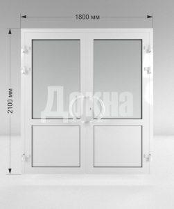 Дверь ПВХ двухстворчатая