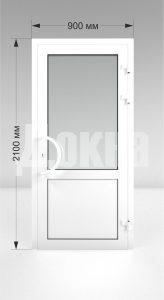 Дверь ПВХ одностворчатая