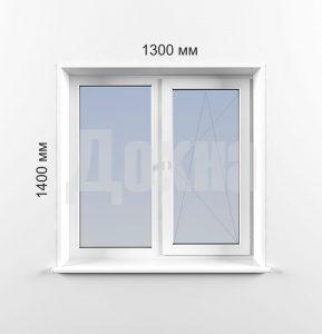 Двухстворчатые окна Рехау