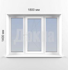 Трехстворчатые окна Rehau