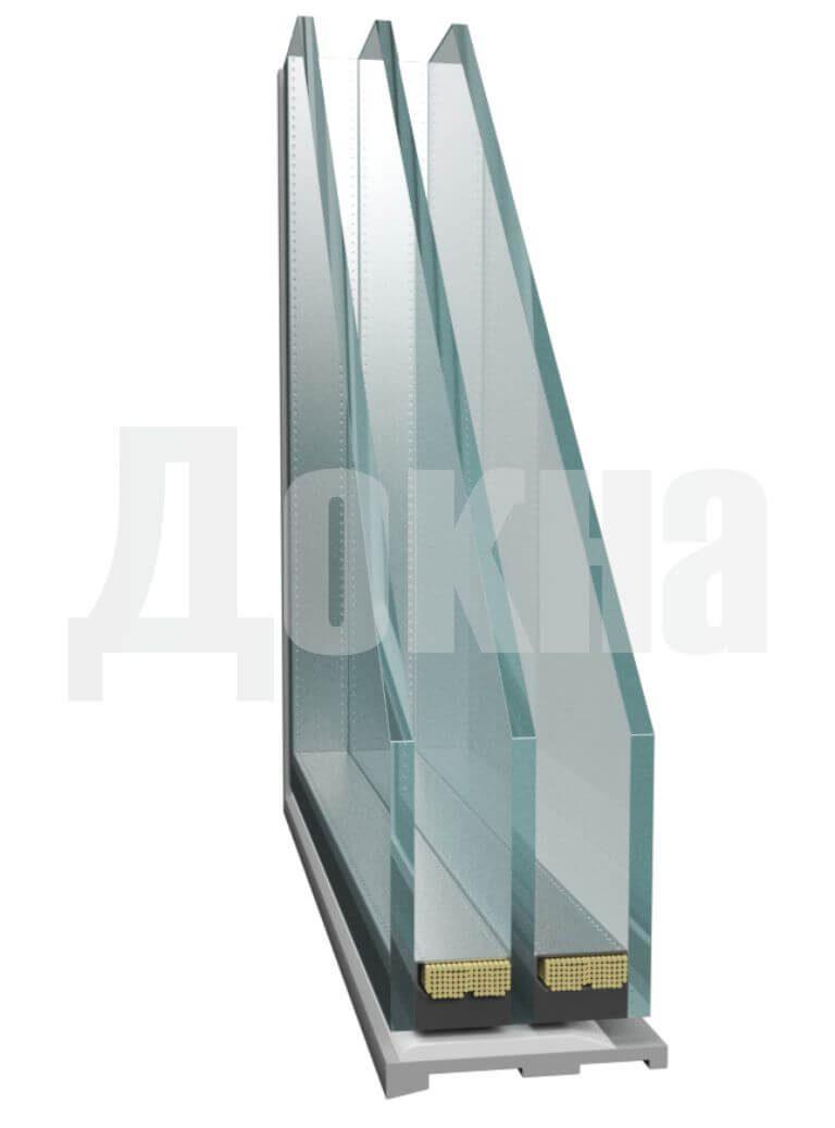 Двухкамерный стеклопакет 53 мм